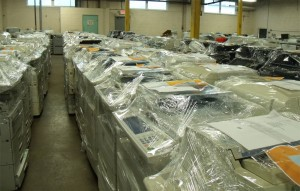 Used copiers ready to ship